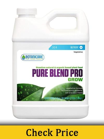 Botanicare PURE BLEND PRO Grow - Best Nutrients For Growing Cannabis