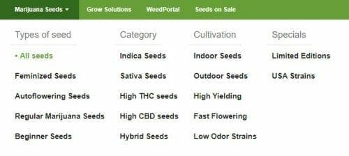 Nirvana Shop cannabis seeds