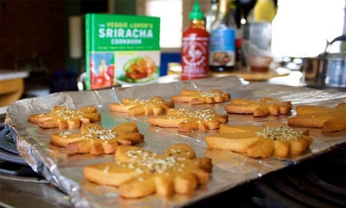 Sriracha and Peanut Butter Weed Cookies