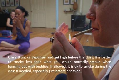 Cannabis yoga practice