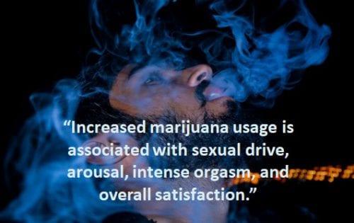 marijuana for arousal male