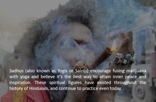 A Sadhu (Sage) smoking a weed chillum