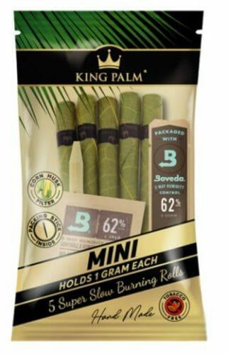 King Palm Mini Terpene Infused Blunt Wraps